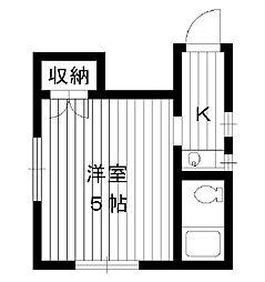 東京都新宿区西落合の賃貸アパートの間取り