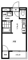 三田パークコート[106号室号室]の間取り