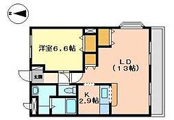 兵庫県姫路市青山西2丁目の賃貸アパートの間取り