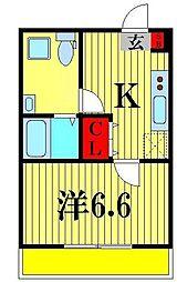 ルーモ松戸[2階]の間取り