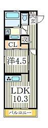 アローヒルズA[1階]の間取り
