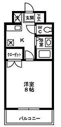 レジデンスひかり[314号室]の間取り