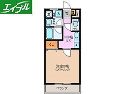 近鉄山田線 宮町駅 徒歩12分の賃貸マンション 1階1Kの間取り