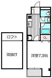 大阪府守口市京阪本通2丁目の賃貸マンションの間取り