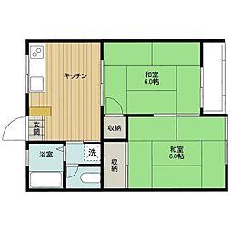 イタクラアパート6号館[3号室]の間取り