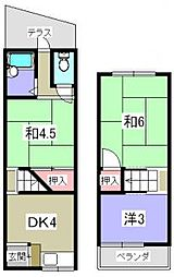 [一戸建] 大阪府枚方市田口1丁目 の賃貸【大阪府 / 枚方市】の間取り