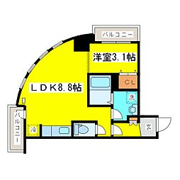 北海道札幌市東区北八条東1丁目の賃貸マンションの間取り