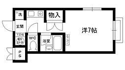 サンライト仁川[101号室]の間取り