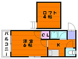 コンパートハウス九産大前[3階]の間取り