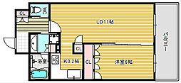リーガル江戸堀ウエストパーク[5階]の間取り