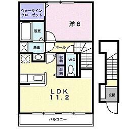 キャプリコートA[2階]の間取り