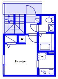 (仮称)ベイルーム藤沢本町2-1号棟 3階1Kの間取り