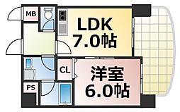 プラムヴェルデ 5階1LDKの間取り