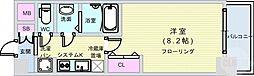 Osaka Metro長堀鶴見緑地線 松屋町駅 徒歩6分の賃貸マンション 13階1Kの間取り