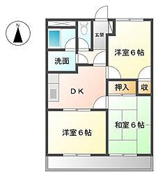 ロイヤルハイツ廣瀬159[3階]の間取り