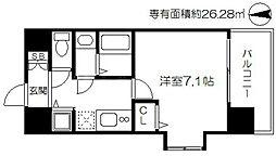 ViVi EBISU(ヴィヴィエビス) 11階1Kの間取り