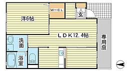 兵庫県相生市双葉1丁目の賃貸アパートの間取り