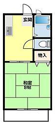 愛知県豊田市水源町2丁目の賃貸アパートの間取り