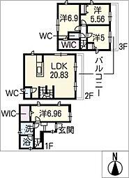 [一戸建] 愛知県名古屋市中村区則武1丁目 の賃貸【/】の間取り