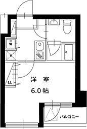 JR山手線 田町駅 徒歩6分の賃貸マンション 7階1Kの間取り