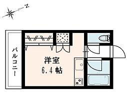 東京都江戸川区東葛西2の賃貸アパートの間取り