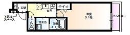 兵庫県尼崎市長洲本通1丁目の賃貸アパートの間取り