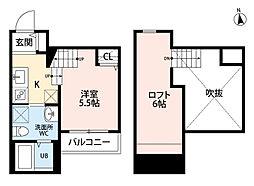 イマーク田島(小型犬飼育可)[2階]の間取り