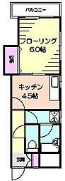 アルテール[4階]の間取り