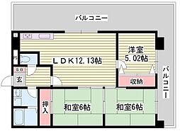 メゾン・セルベイル[4階]の間取り