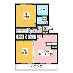 スタースレイプ[3階]の間取り