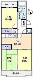 ロイヤルグリーン八千代4号棟[1階]の間取り