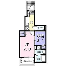 大阪府堺市西区鳳北町10丁の賃貸アパートの間取り