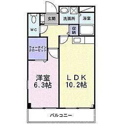 泉北高速鉄道 泉ヶ丘駅 徒歩20分の賃貸マンション 3階1LDKの間取り