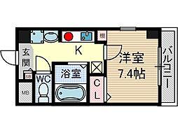 クオーレ茨木元町[10階]の間取り
