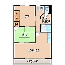 第2松浦マンション[3階]の間取り