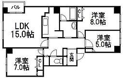 PLUMCOURT[2階]の間取り