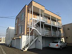 北海道札幌市北区拓北七条2丁目の賃貸アパートの外観
