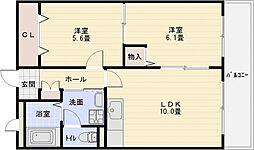 プリュクレール[5階]の間取り
