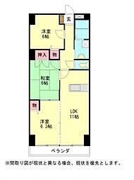 愛知県小牧市堀の内4丁目の賃貸マンションの間取り