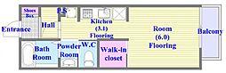 兵庫県神戸市垂水区旭が丘2丁目の賃貸アパートの間取り