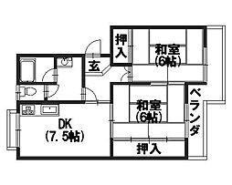 ハーモニータカノ[305号室]の間取り