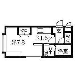 クレアN26[1階]の間取り