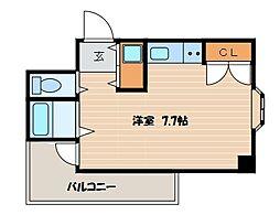 神奈川県横浜市鶴見区岸谷3丁目の賃貸マンションの間取り