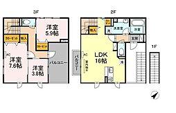広島県福山市多治米町6丁目の賃貸アパートの間取り