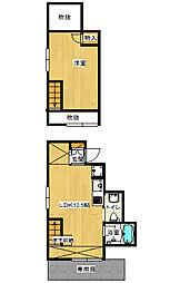 清原台6丁目 1LDk アパート[1階]の間取り