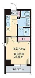 COURT TAKETOKU III~コートタケトクスリー~ 2階1Kの間取り