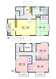 [一戸建] 神奈川県横浜市青葉区あかね台2丁目 の賃貸【/】の間取り