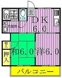 サンハイム桜台[2階]の間取り