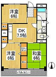 森光第2ビル[4階]の間取り