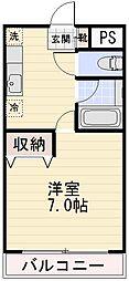 長野県長野市大字稲葉上千田の賃貸マンションの間取り